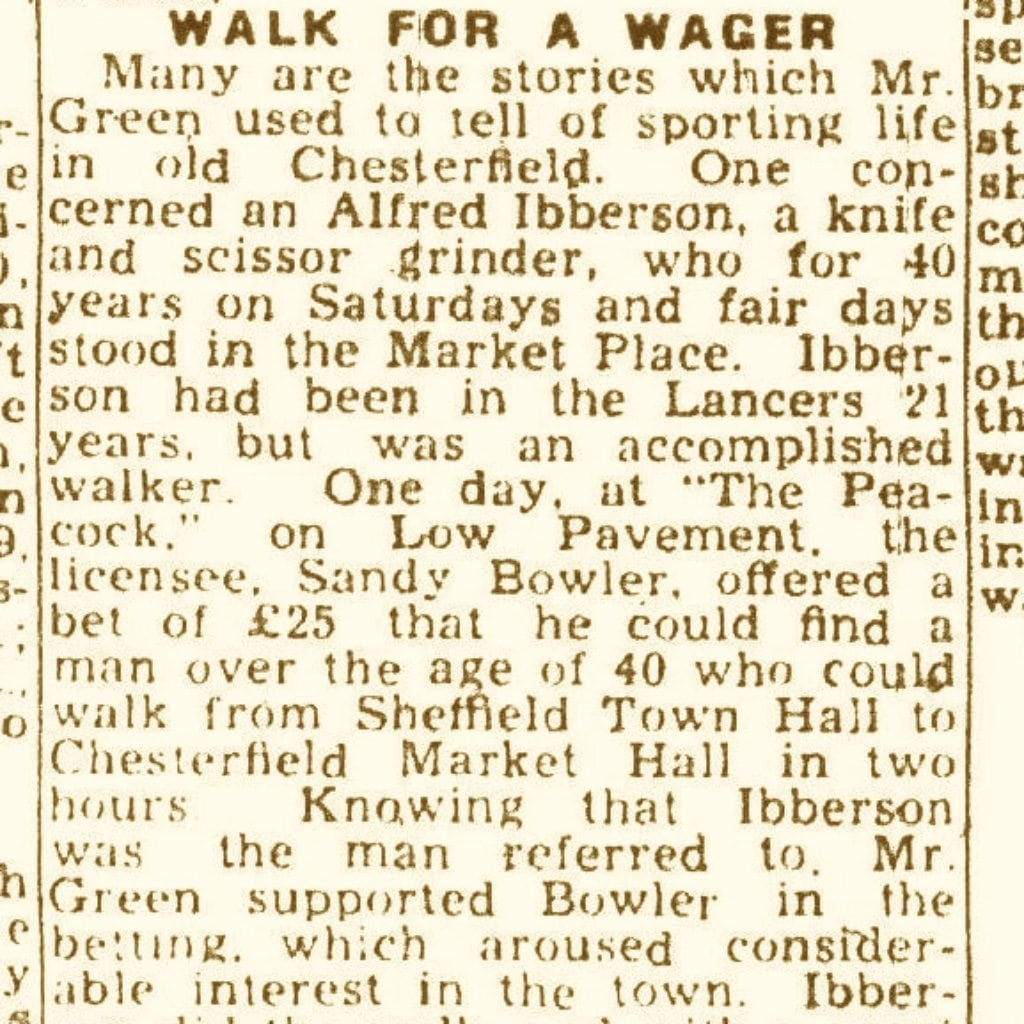 walk for a wager